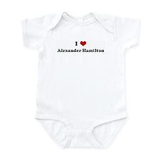 I Love Alexander Hamilton Infant Bodysuit