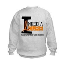 I Need A Cure KIDNEY CANCER Sweatshirt