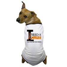 I Need A Cure KIDNEY CANCER Dog T-Shirt