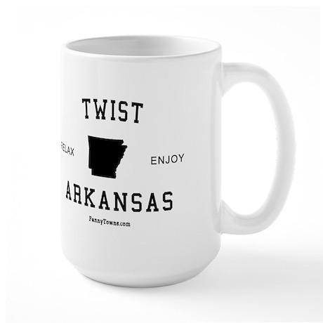 Twist (AR) Arkansas Tees Large Mug