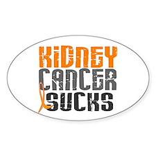 Kidney Cancer Sucks Oval Decal