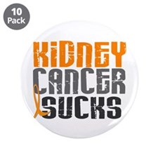"""Kidney Cancer Sucks 3.5"""" Button (10 pack)"""