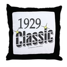 1929 Classic Throw Pillow