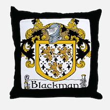 Blackman Coat of Arms Throw Pillow