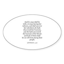 LEVITICUS 20:18 Oval Decal