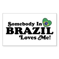 Somebody In Brazil Loves Me Rectangle Decal