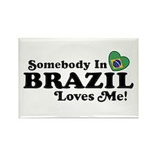 Somebody In Brazil Loves Me Rectangle Magnet