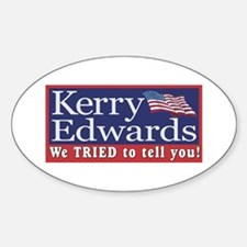 Kerry - We Tried Oval Decal