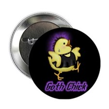 Goth Chick Button