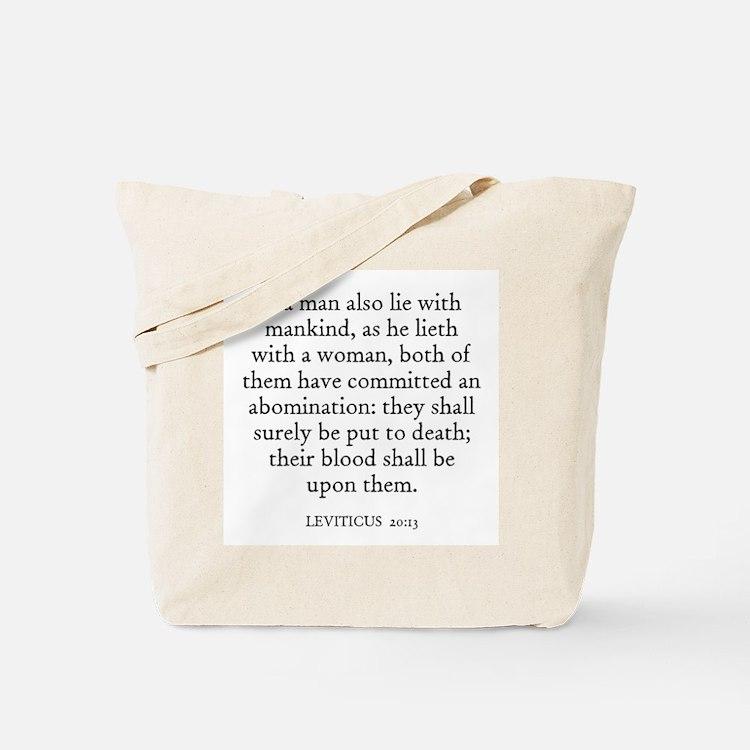 LEVITICUS  20:13 Tote Bag