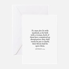 LEVITICUS  20:13 Greeting Cards (Pk of 10)
