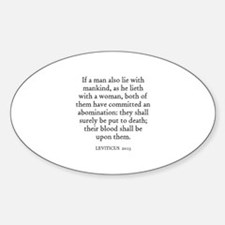 LEVITICUS 20:13 Oval Decal