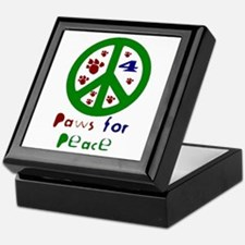 Paws For Peace Green Keepsake Box