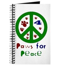 Paws For Peace Green Journal