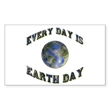Every Day Is Earth Day Rectangle Sticker