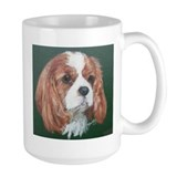 Cavalier king charles spaniel tiles Large Mugs (15 oz)