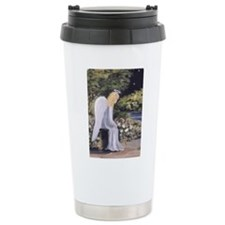 Angel in Garden Travel Mug
