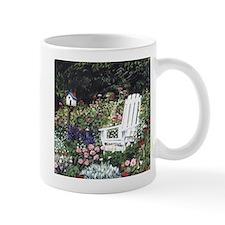 White Chair in Garden Mug
