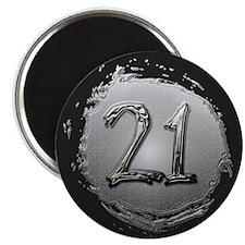 Cool 21st Birthday Magnet