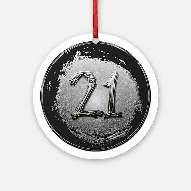 Cool 21st Birthday Ornament (Round)