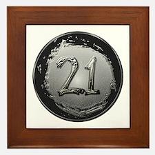 Cool 21st Birthday Framed Tile