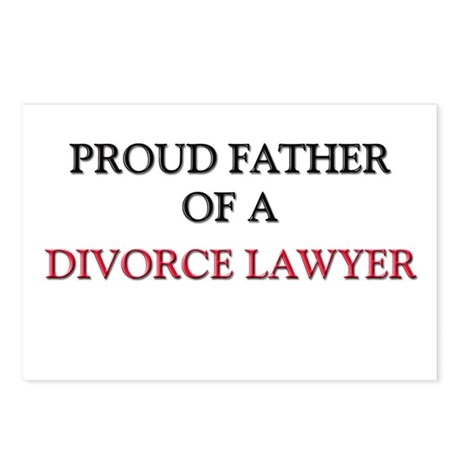 Proud Father Of A DIVORCE LAWYER Postcards (Packag