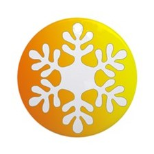 Yellow and Orange Gradient Snowflake Ornament