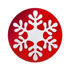 Red Gradient Snowflake Ornament