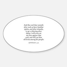LEVITICUS 20:6 Oval Decal