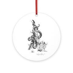 Snakepit B&W Ornament (Round)