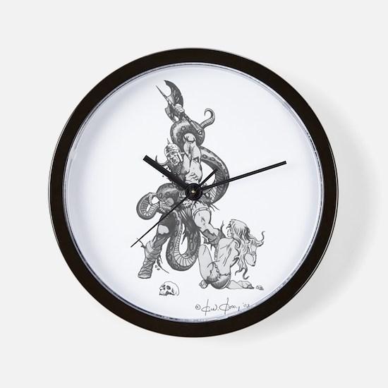 Snakepit B&W Wall Clock