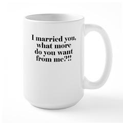 I'm Married Large Mug