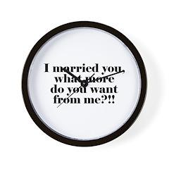 I'm Married Wall Clock