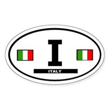 Italy italian International Style Oval Decal