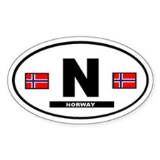 Norway International Style Oval Decal