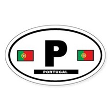 Portugal International Style Oval Decal