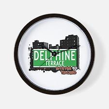 DELPHINE TERRACE, STATEN ISLND, NYC Wall Clock