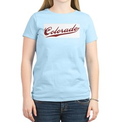 Retro Colorado Women's Pink T-Shirt