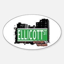 ELLICOTT STREET, STATEN ISLAND, NYC Oval Decal