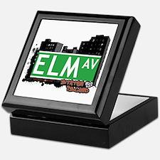 ELM AVENUE, STATEN ISLAND, NYC Keepsake Box