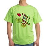 Peace Love Torah Green T-Shirt
