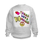 Peace Love Torah Kids Sweatshirt