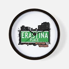 ERASTINA PLACE, STATEN ISLAND, NYC Wall Clock