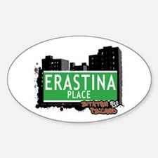 ERASTINA PLACE, STATEN ISLAND, NYC Oval Decal