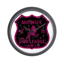 Midwife Diva League Wall Clock