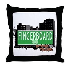 FINGERBOARD ROAD, STATEN ISLAND, NYC Throw Pillow