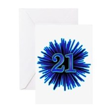 Cool 21st Birthday Greeting Card