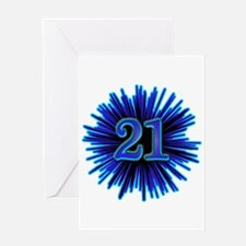 Cool 21st Birthday Greeting Card