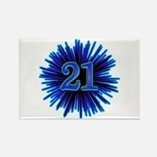 Cool 21st Birthday Rectangle Magnet