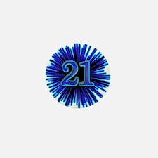 Cool 21st Birthday Mini Button